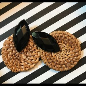 Boho Rattan Woven Earrings